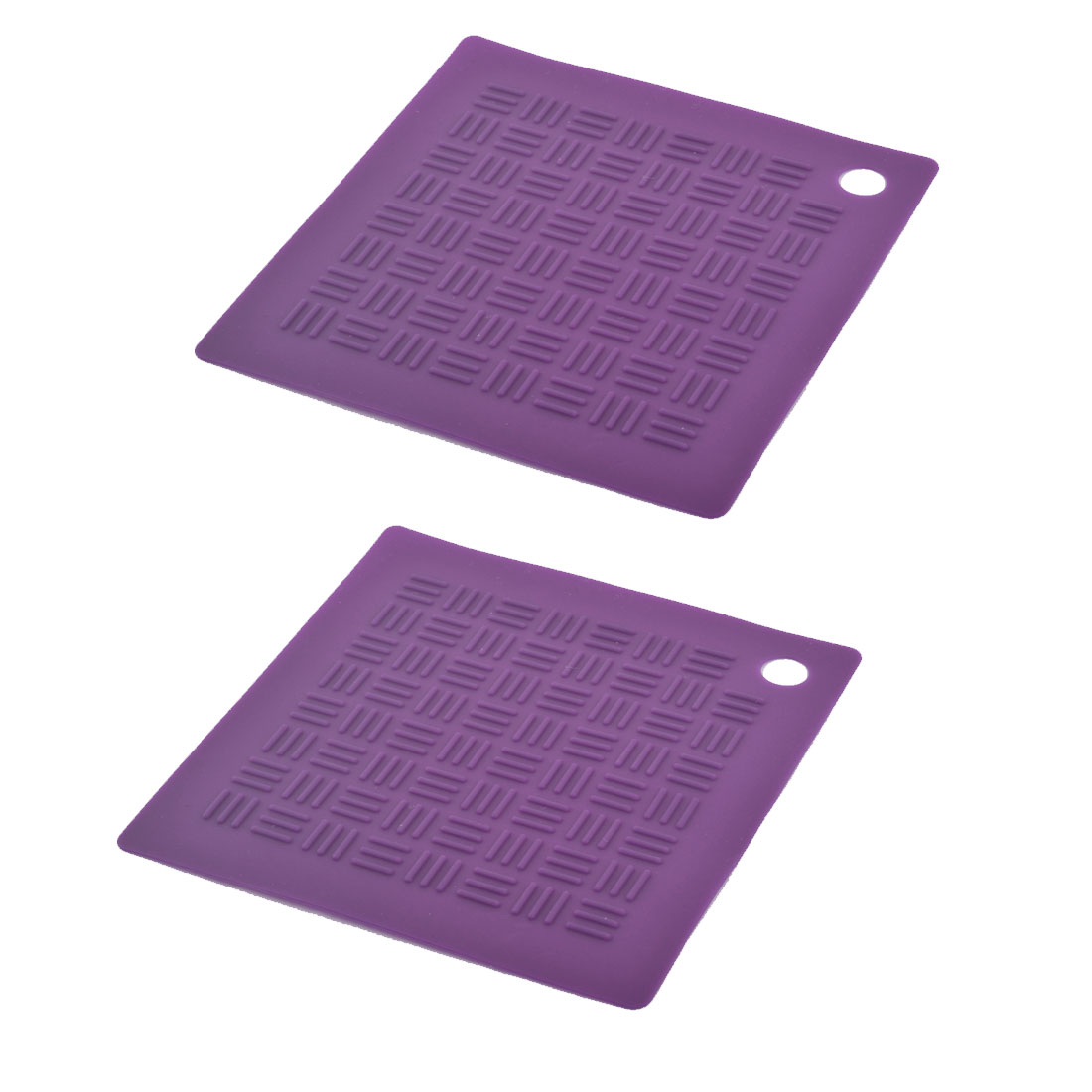 Silicone Square Nonslip Heat Resistant Mat Coaster Cushion Placemat Pad 2pcs