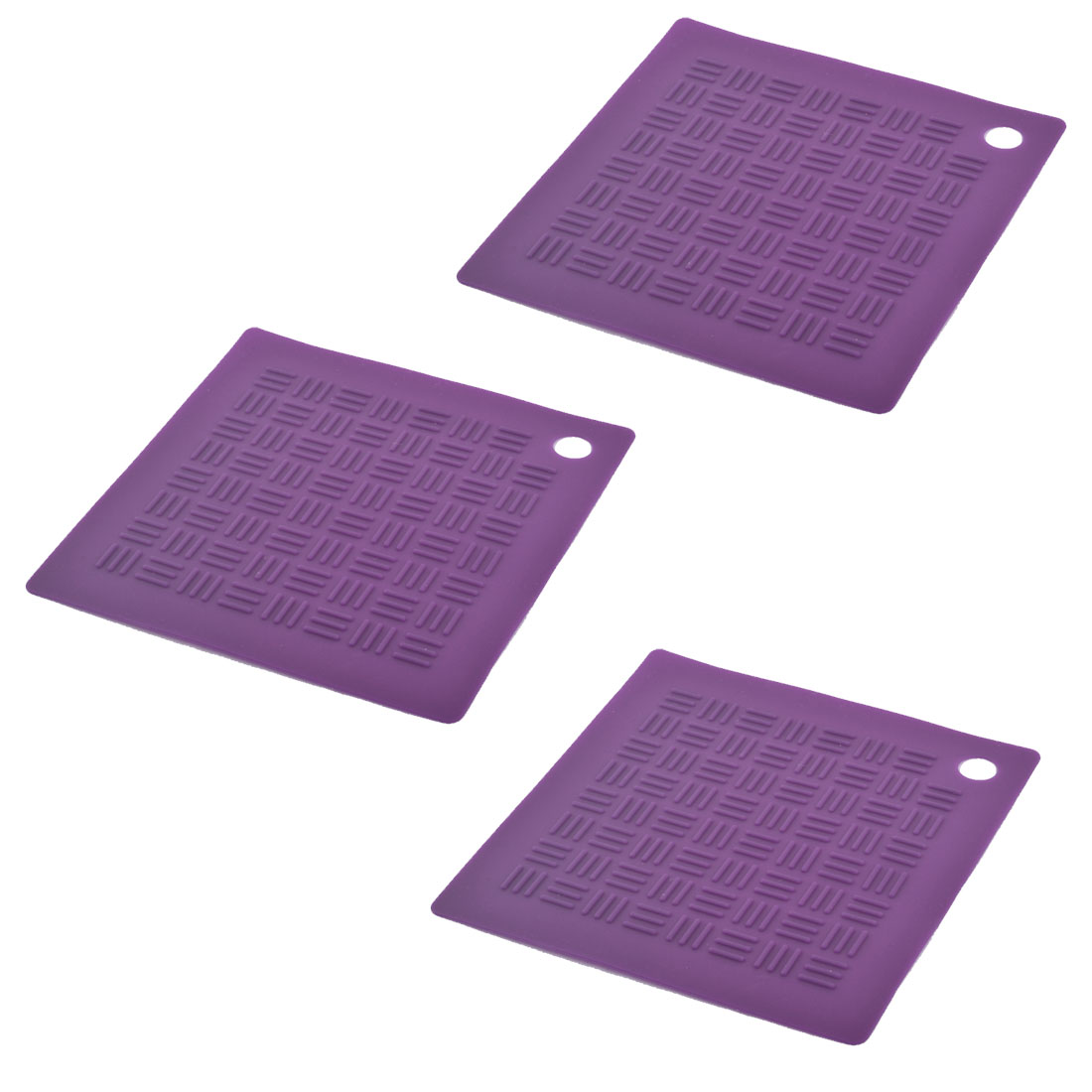 Silicone Square Nonslip Table Heat Resistant Mat Coaster Cushion Placemat Pad 3pcs
