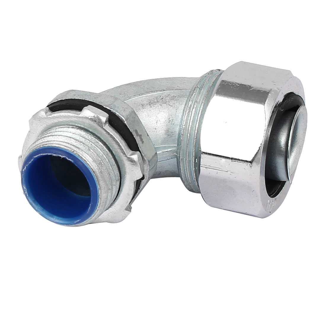 21mm 1/2BSP Male Thread 90 Degree Elbow Fitting Pipe Connector Silver Tone