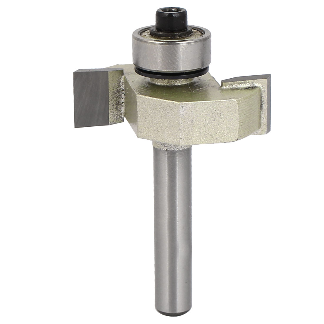 """1/4"""" Shank Dia 3/8"""" Cutting Depth Groove Forming 2-Flute T-Slot Router Bit"""