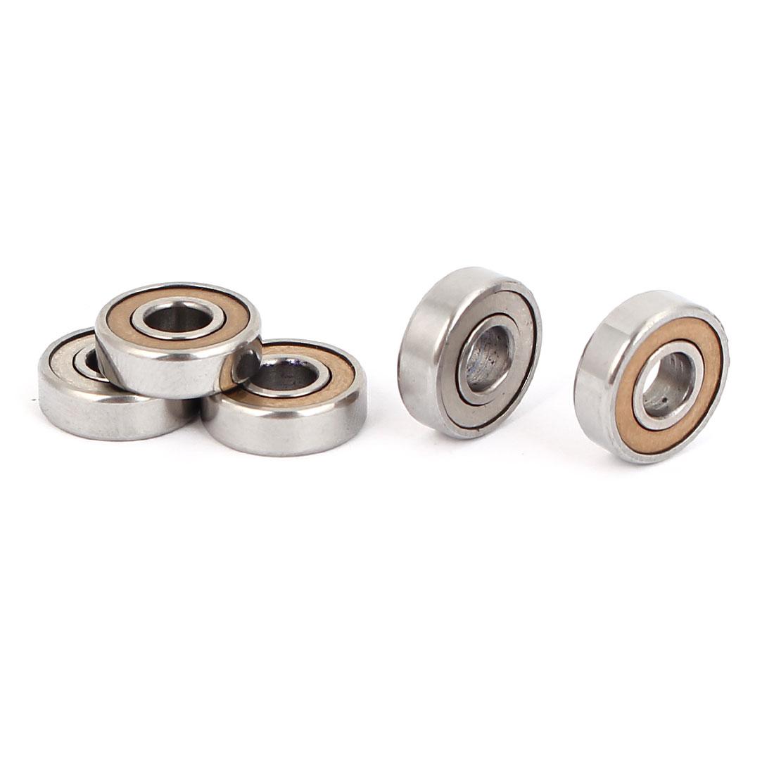 5mm x 13mm x 4mm Single Row Double Shielded Deep Groove Ball Bearings 5PCS