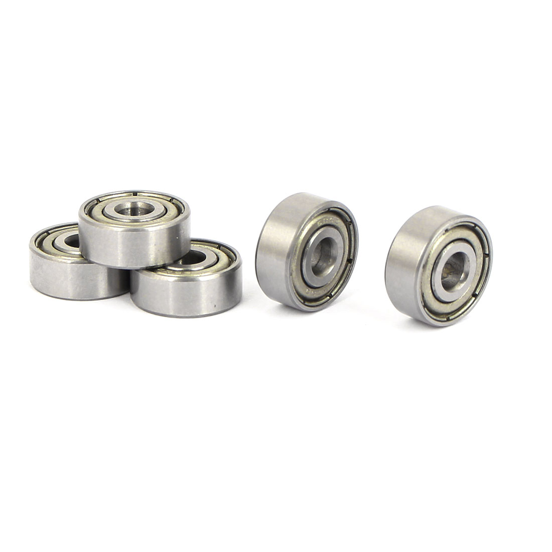 4mm x 13mm x 5mm Single Row Double Shielded Deep Groove Ball Bearings 5PCS