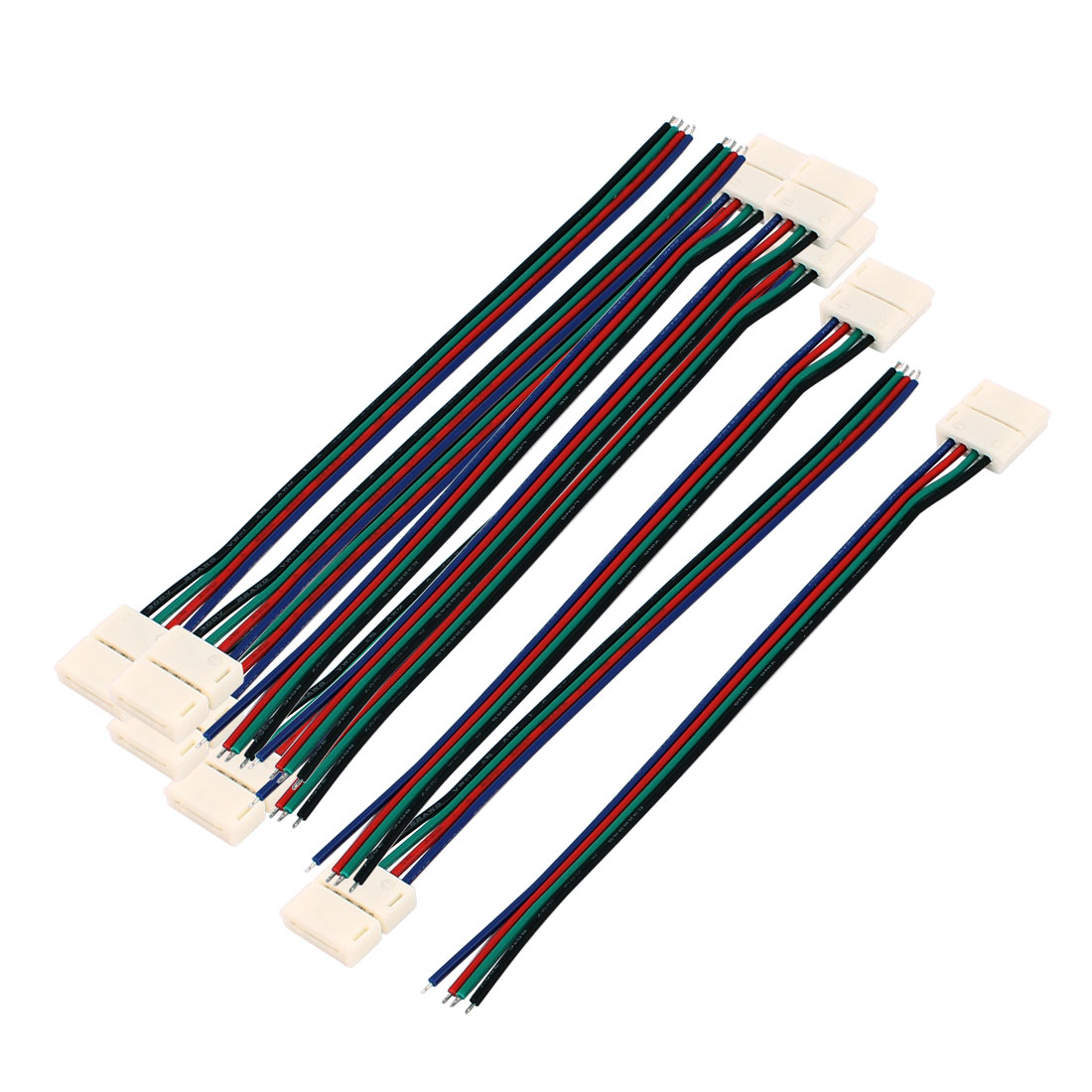 10Pcs 15cm Long 10mm Width 4 Pin Wire Connector for Led SMD 5050 RGB Strip