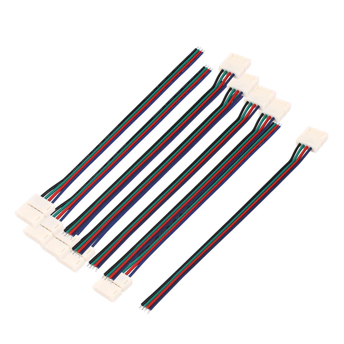 10Pcs 15cm Long 10mm Width 4 Pin Wire Connector for Led 5050 RGB Light Strip