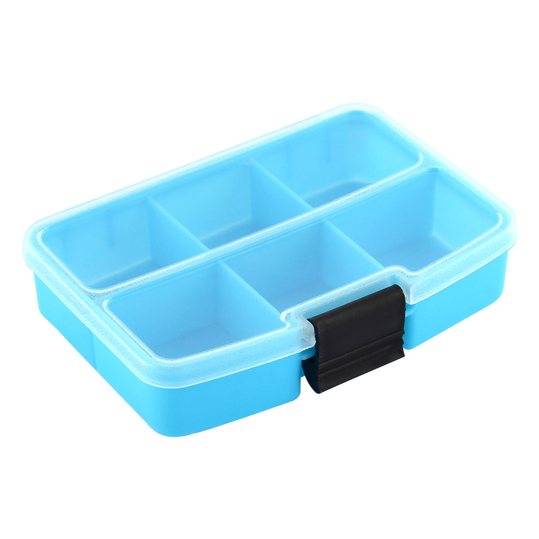 Desk Plastic 6 Compartments Jewelry Storage Box Cotainer Organizer Case