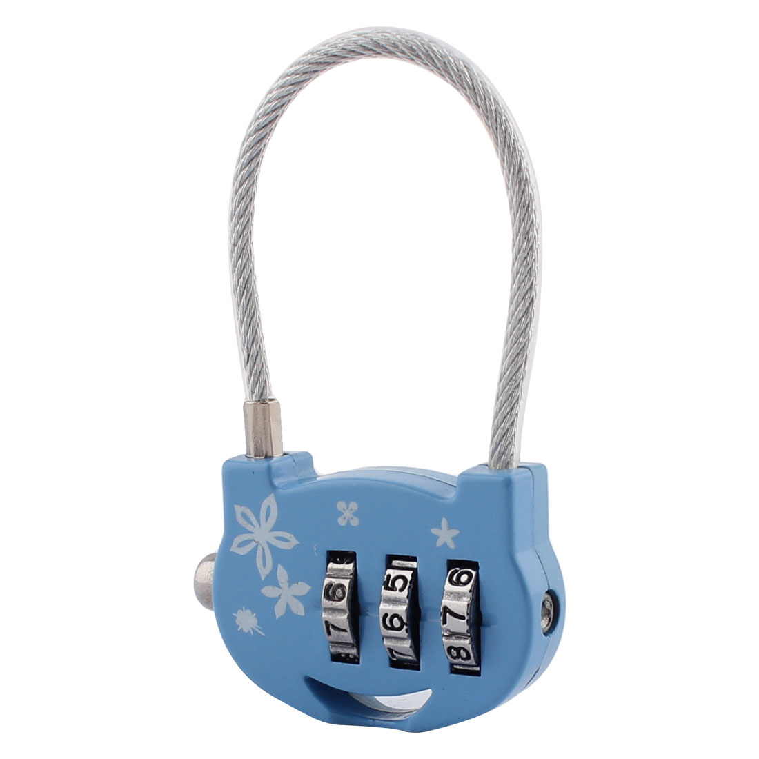 Suitcase Luggage Metal 3 Dial Digit Code Combination Password Lock Padlock Blue