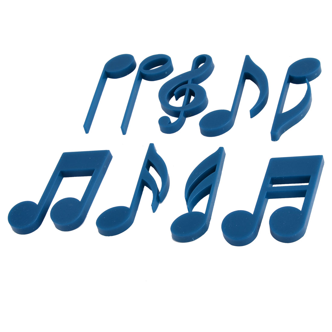 Kitchen Office Blackboard Washer Musical Note Design Fridge Magnets Blue 9 in 1
