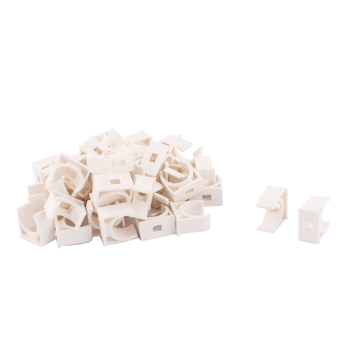Water Tube Hose Pipe Multifunctional Fittings Parts Clamps Clips 20mm Dia 50pcs