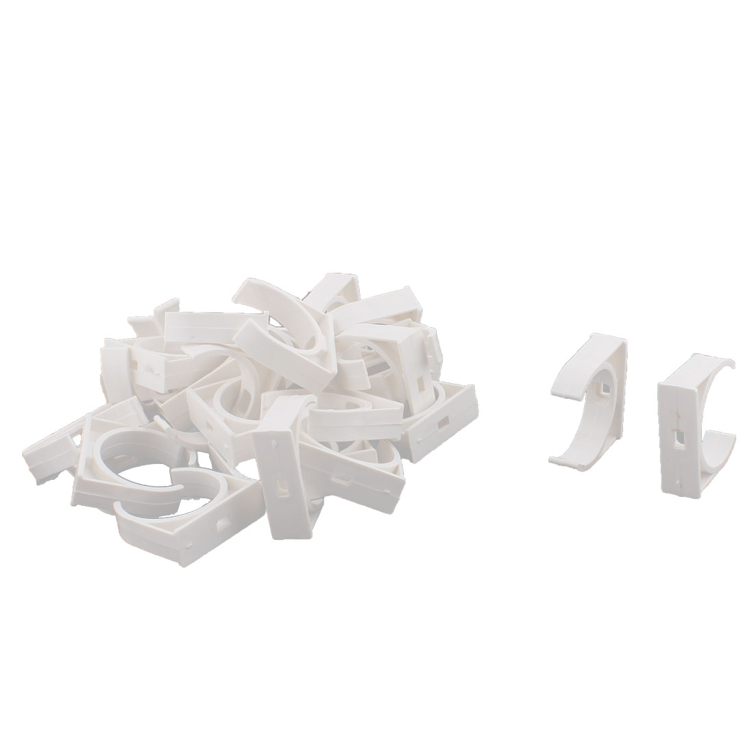 Water Tube Hose Pipe Multifunctional Fittings Parts Clamps Clips 40mm Dia 30pcs
