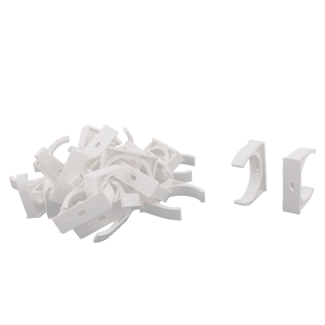 Water Tube Hose Pipe Multifunctional Fittings Parts Clamps Clips 48mm Dia 30pcs