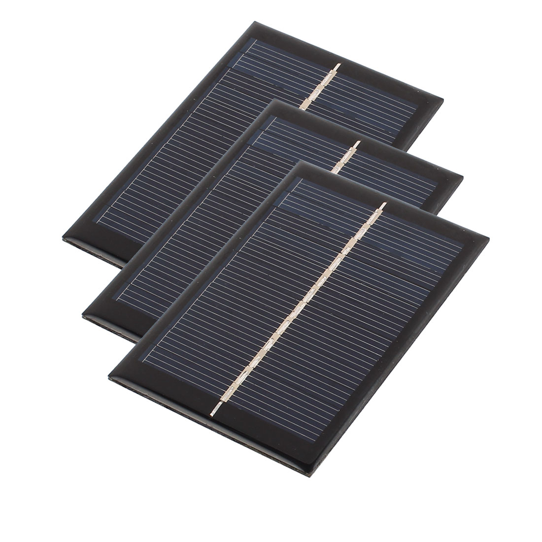 3Pcs DC 6V 0.6W Rectangle Energy Saving Solar Cell Panel Module for Charger