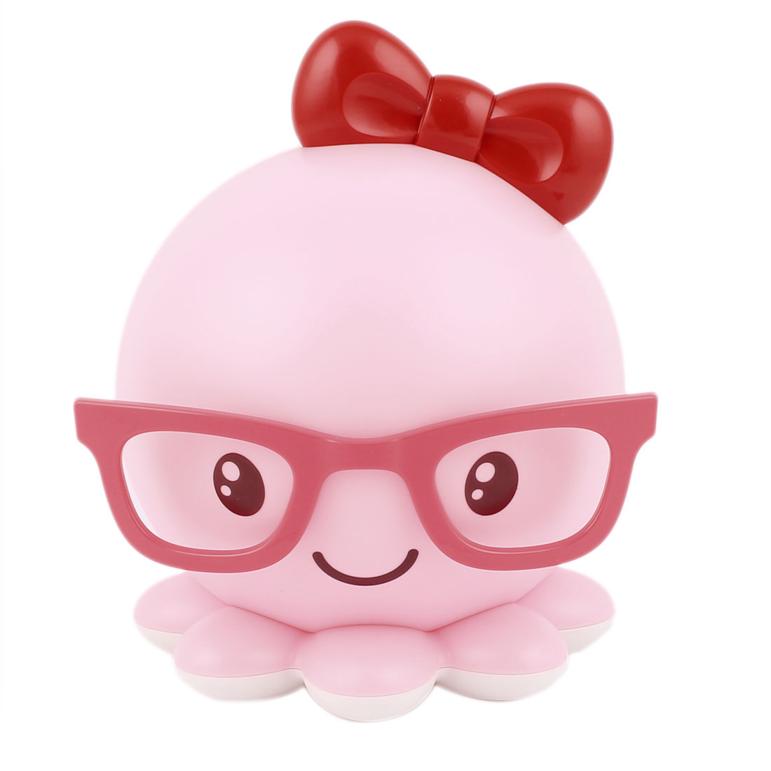 0.3W DC 5V Octopus Lamp LED Energy-saving Rechargeable Night Bedside Lamp Pink