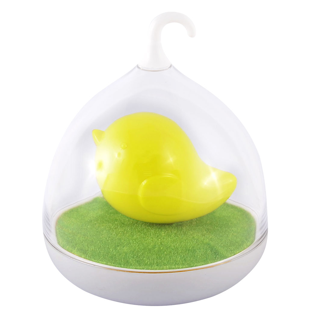 LED Intelligent Induction Birdcage Lamp Creative Voice Control Bedside Lamp Yellow