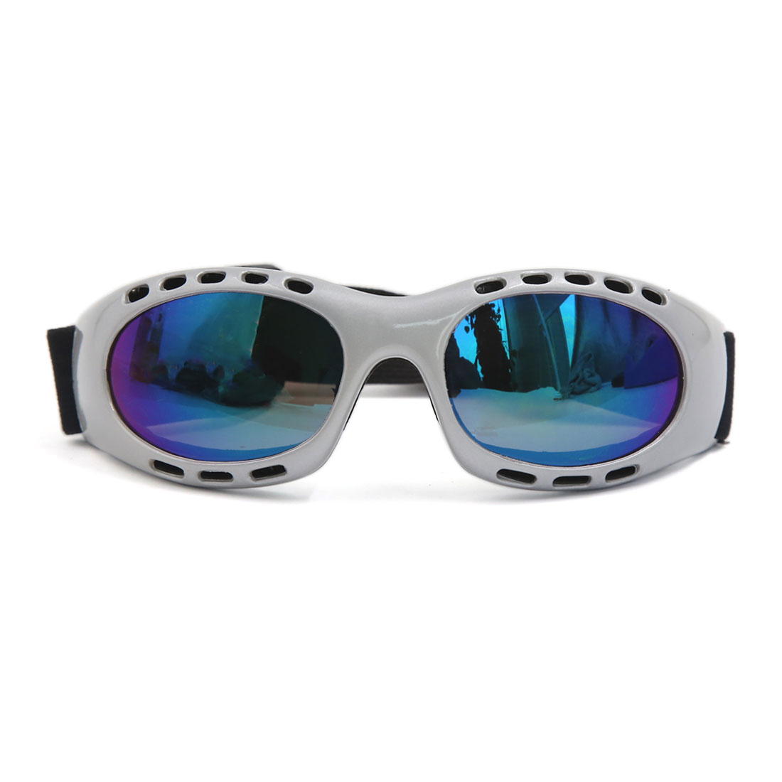 Nylon Elastic Strap Colorful Lens UV Protective Outdoor Goggles for Motorcycle