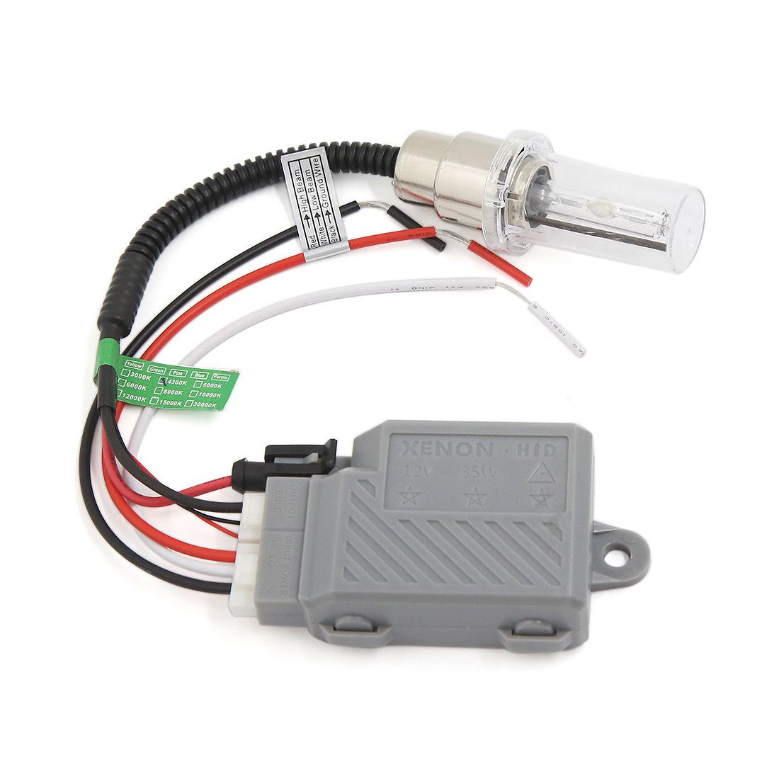 Universal Motorcycle HID Hi/Lo Beam Xenon Light Lamp Headlight kit 4300K 35W