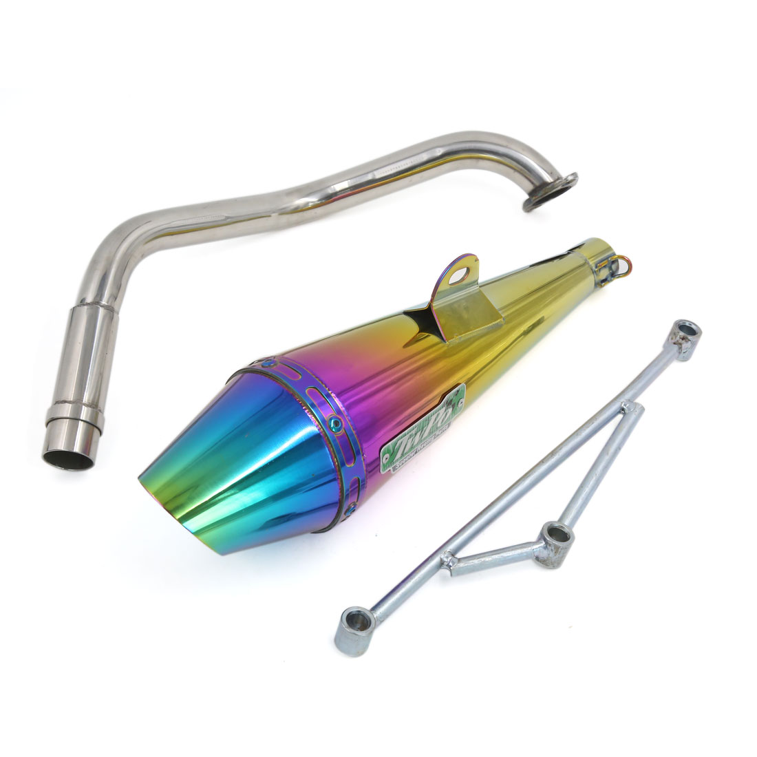 Colorful Stainless Steel Slip On Exhaust Pipe Muffler 32mm Inlet for Motorcycle