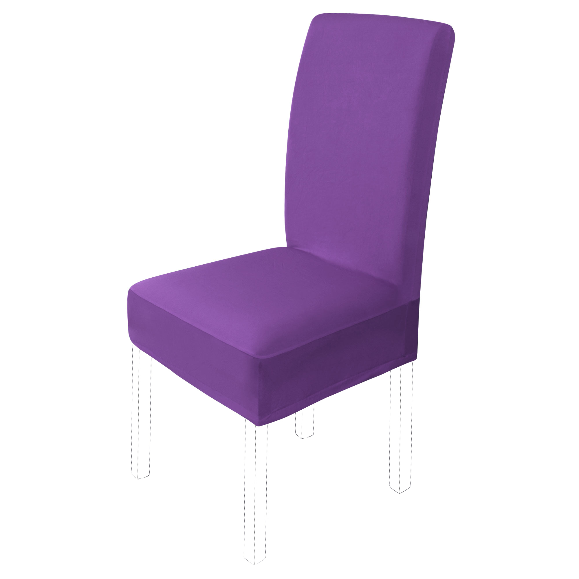 Dining Chair Cover Stretch Bar Stool Slipcover Chair Seat Protectors (M,Purple)