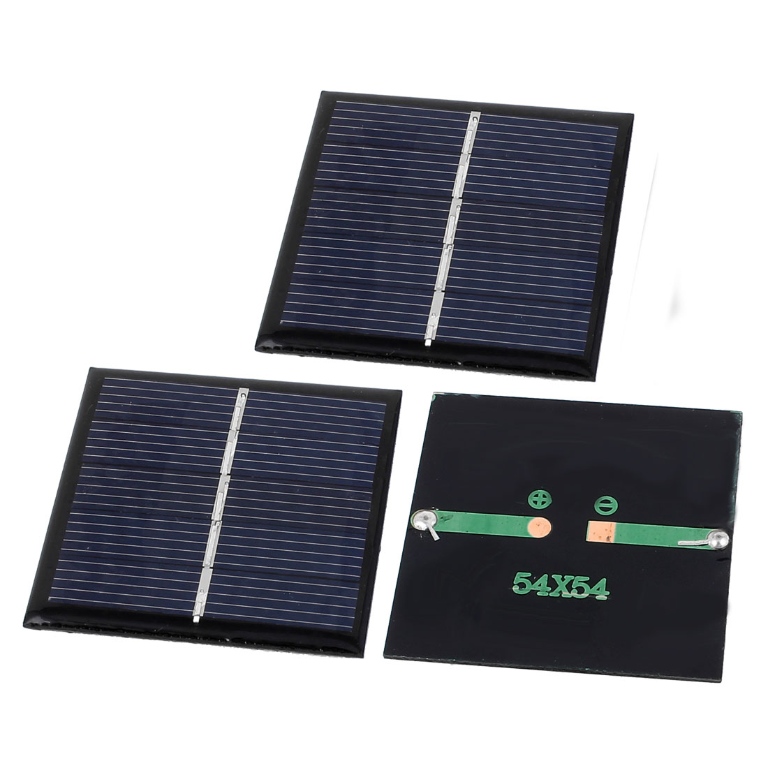 3 Pcs 2.5V 168mA 0.42W DIY Polycrystallinesilicon Solar Panel Cell Battery Charger 54mm x 54mm