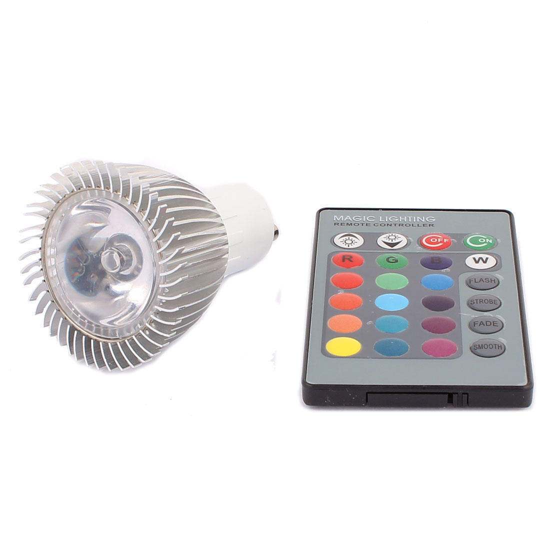 GU10 Adapter Decor Spotlight Light RGB LED Lamp Bulb 3W AC 85V-265V w Remote Controller