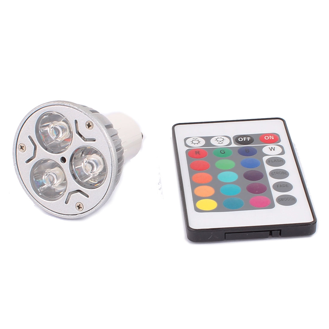 GU10 Adapter Decoration Spotlight Light RGB LED Lamp Bulb 3W AC 85V-265V w Remote Controller
