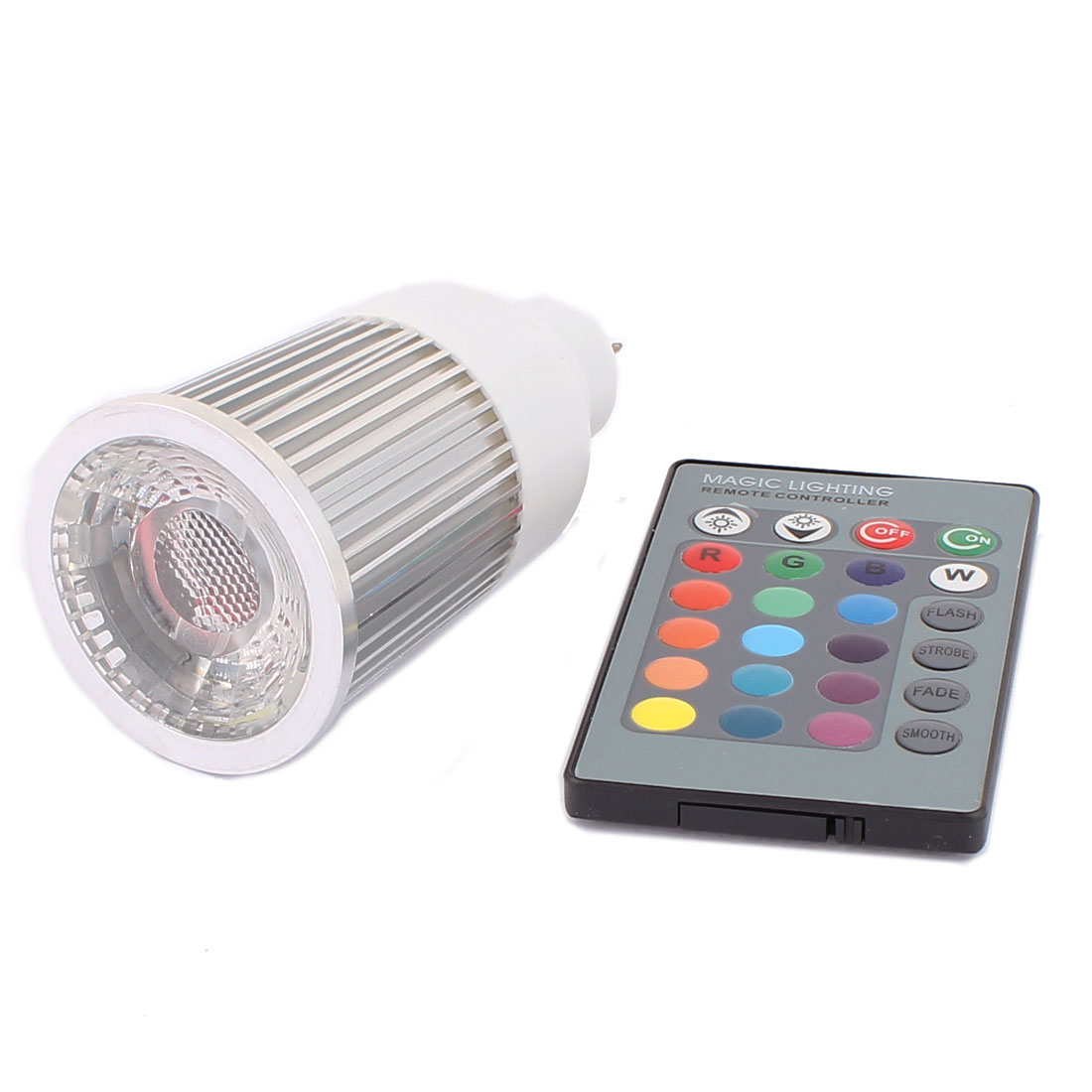 GU5.3 Adapter Decorative Spotlight Light RGB LED Lamp Bulb 5W AC 85V-265V w Remote Controller