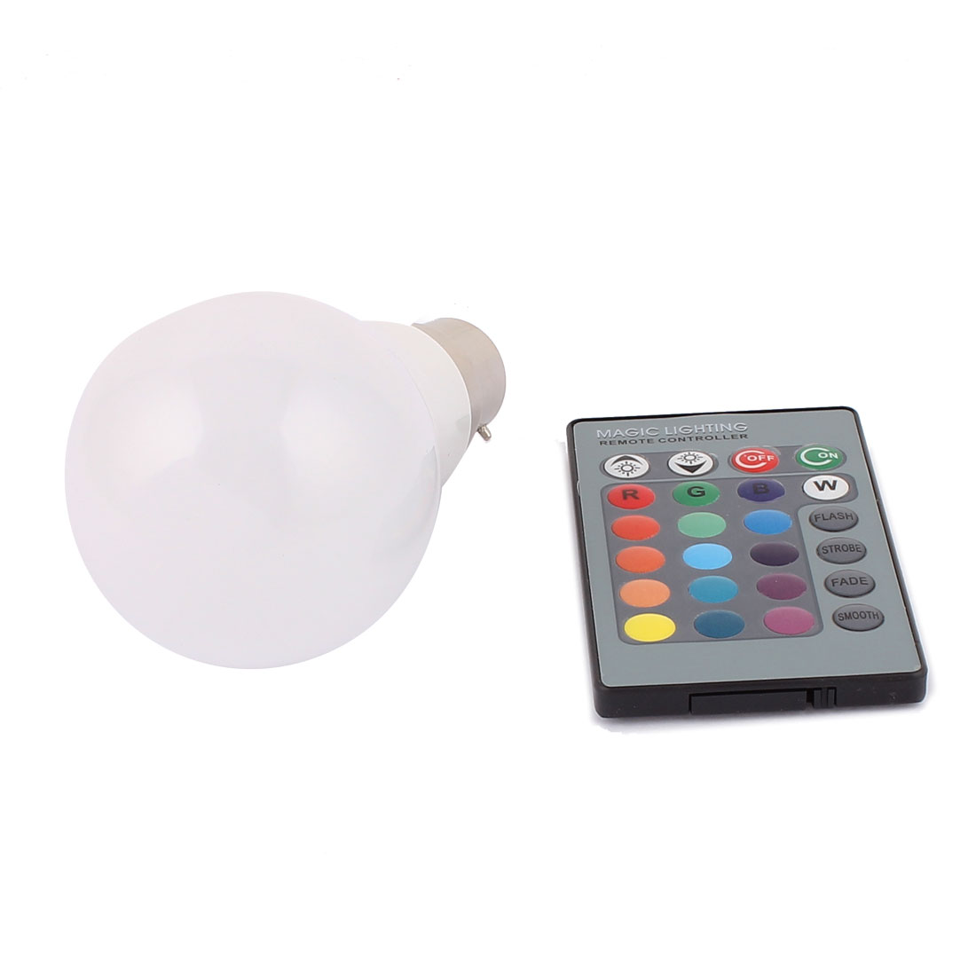 B22 Adapter Decor Ball Light RGB LED Lamp Bulb 3W AC85V-265V w Remote Controller