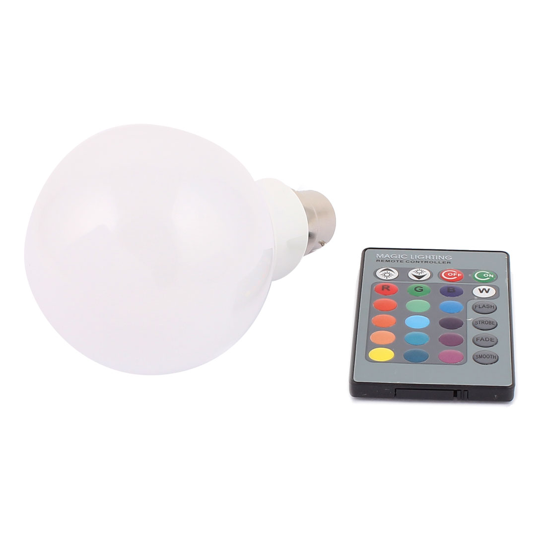 B22 16 Colors Decor Ball Light RGB LED Lamp Bulb 10W AC 85V-265V w Remote Controller