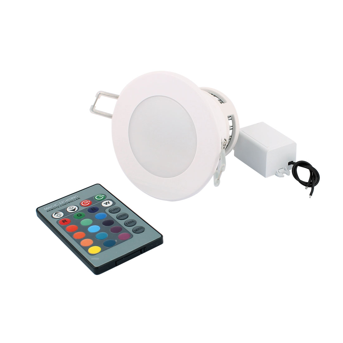 Ceiling Decorative Spotlight Light RGB LED Lamp Bulb 5W AC 85V-265V w Remote Controller