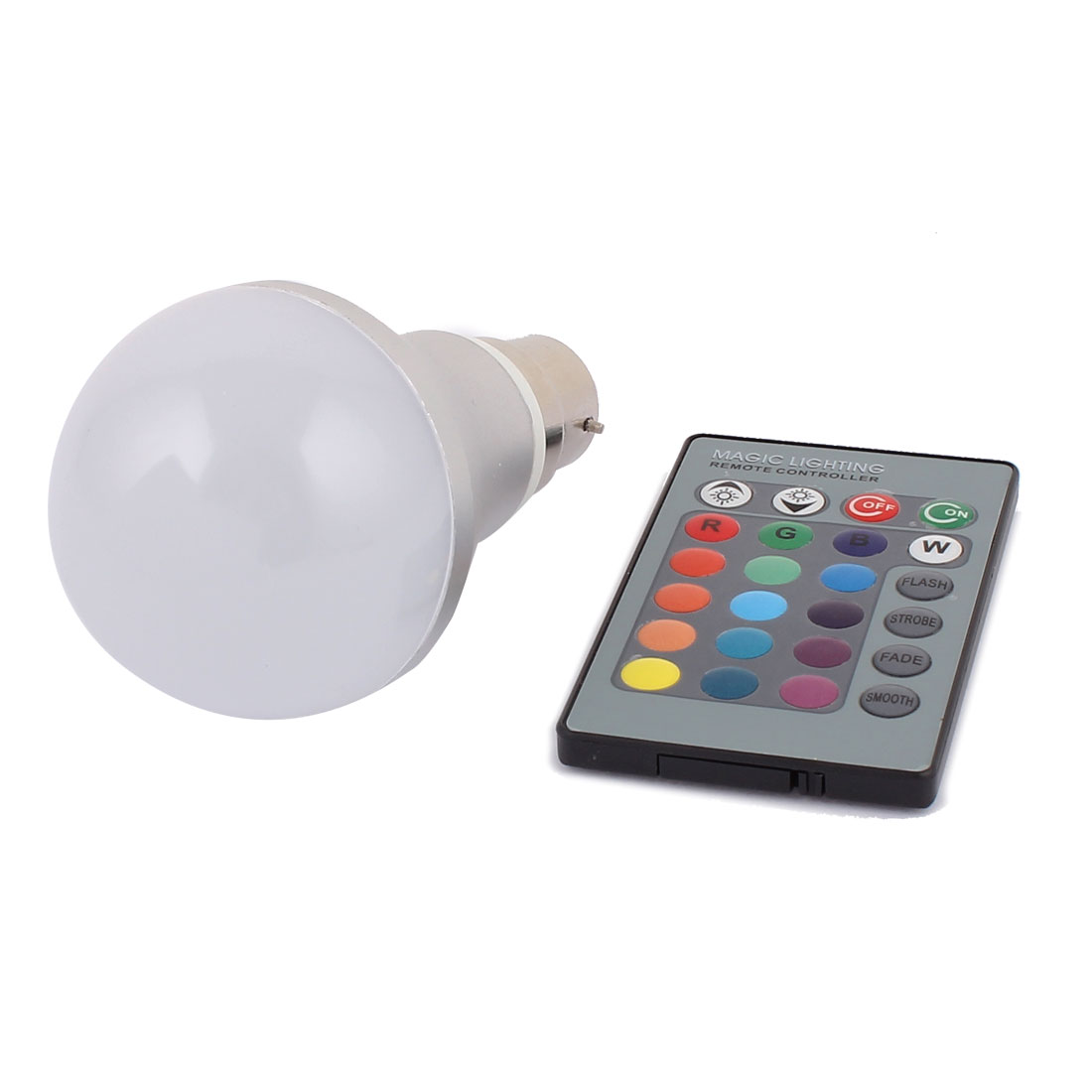 B22 Adapter Decoration Ball Light RGB LED Lamp Bulb 5W AC 85V-265V w Remote Controller
