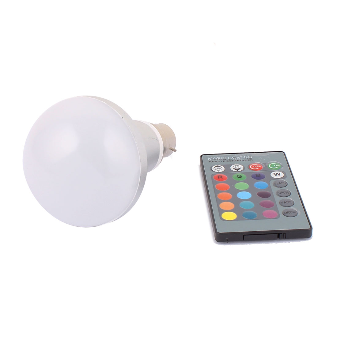 B22 Adapter Decoration Ball Light RGB LED Lamp Bulb 10W AC 85V-265V w Remote Controller