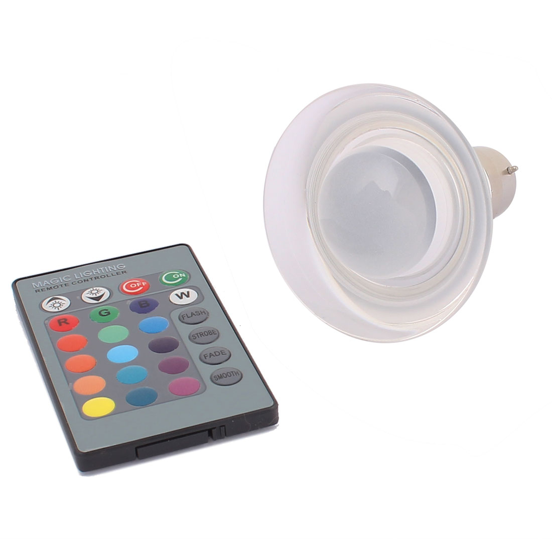 B22 Adapter Faux Crystal Decor Light RGB LED Lamp Bulb 3W AC 85V-265V w Remote Controller