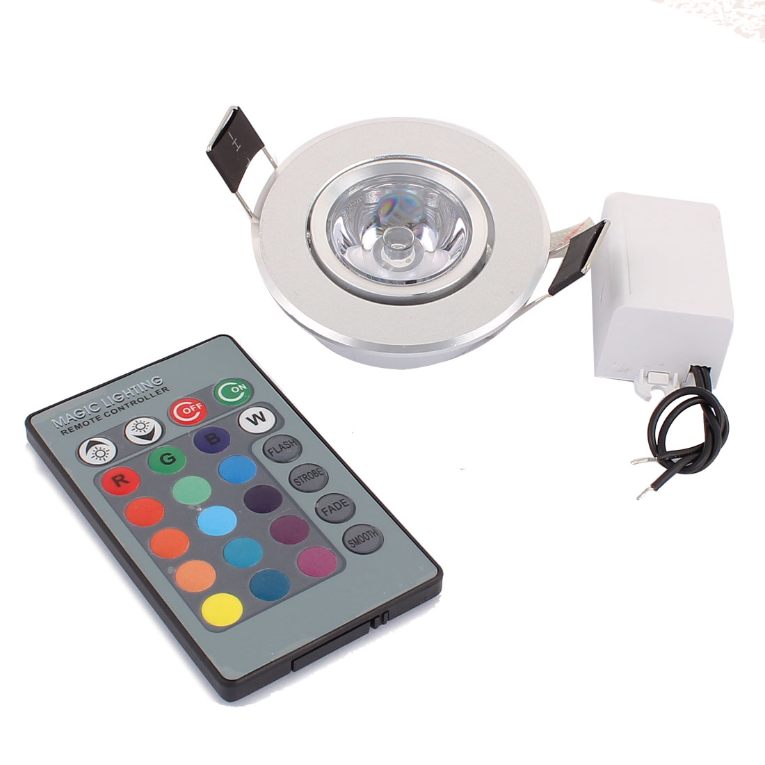 Ceiling Decorative Spotlight Light RGB LED Lamp Bulb 3W AC 85V-265V w Remote Controller