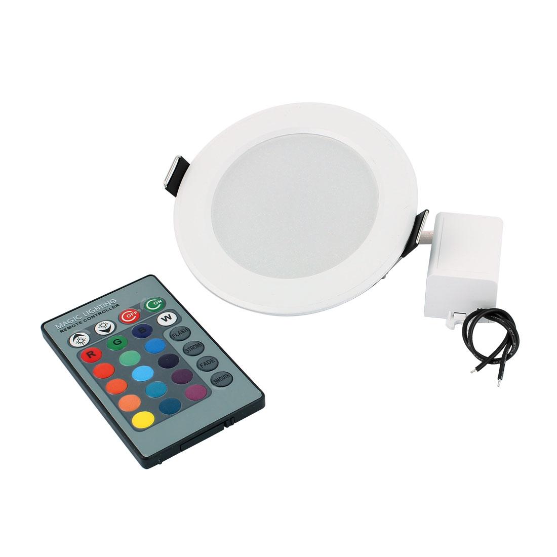 Ceiling Decor Spotlight Light RGB LED Lamp Bulb 3W AC85V-265V w Remote Controller