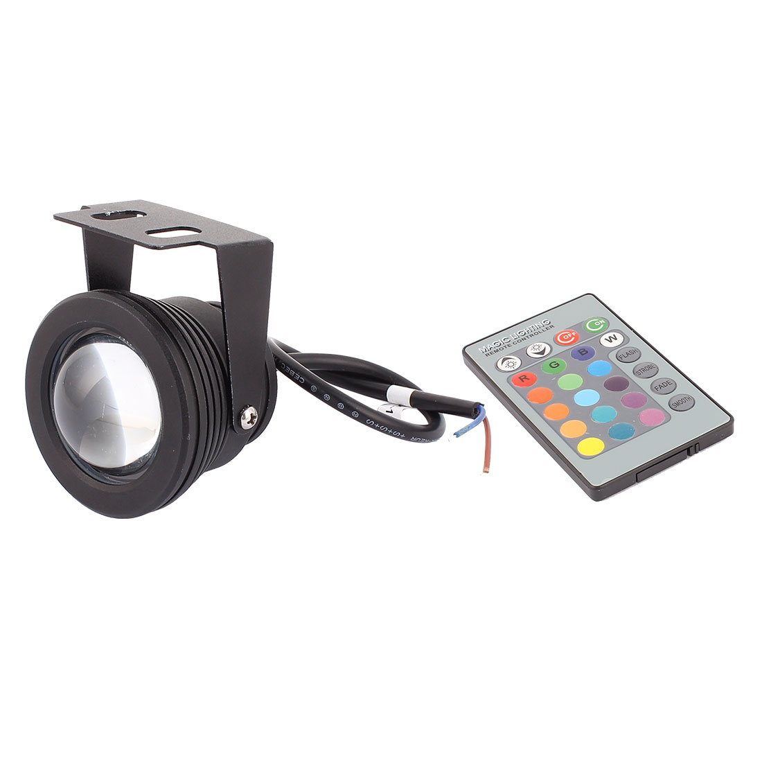 Waterproof Decoration Colorful Light RGB LED Underwater Lamp 10W DC12V w Remote Controller