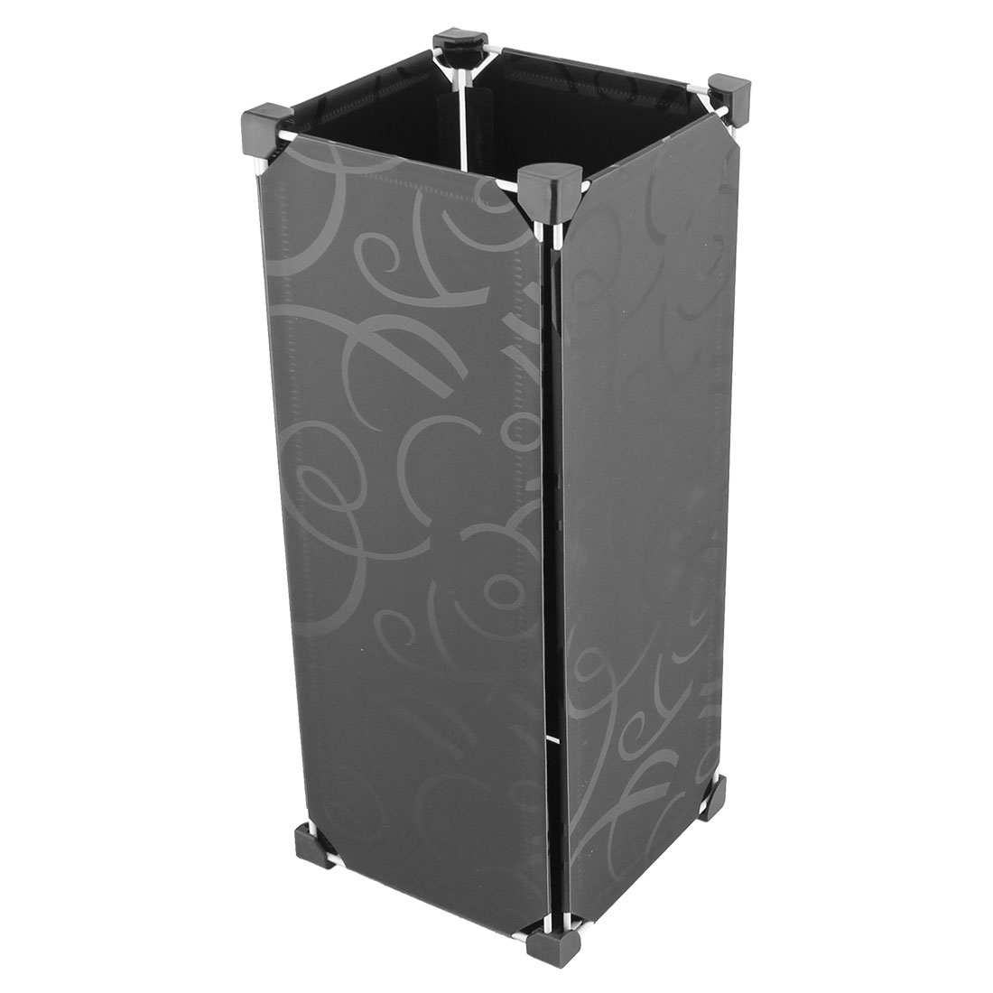 Office Household Removable Rectangular Shaped DIY Umbrella Stand Holder Container Black