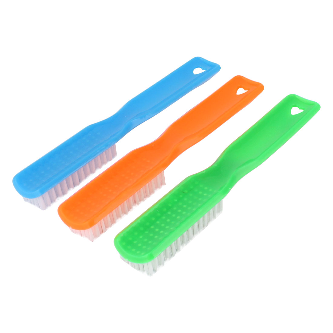 Home Bathroom Plastic Handle Clothes Shoes Scrubbing Brush Cleaning Tool 3pcs