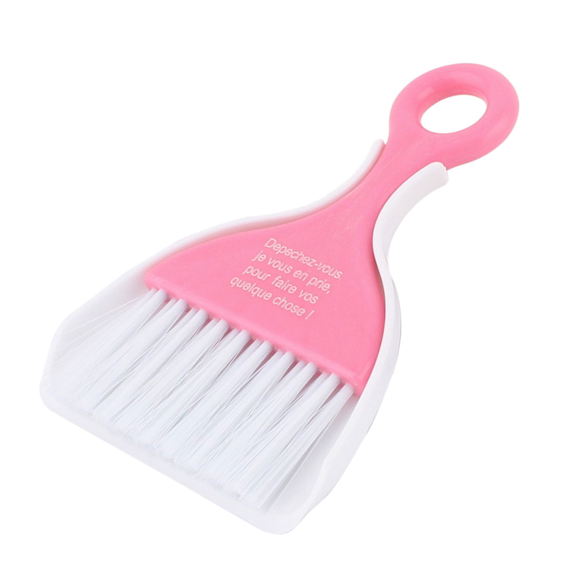 Car Dashboard Window Keyboard Air Outlet Vent Cleaning Sweeping Brush Dustpan Pink 2 in 1