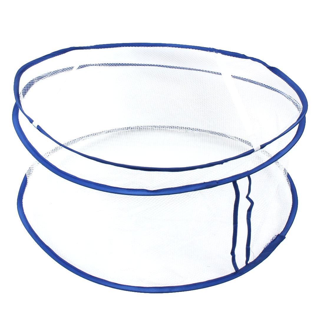 Home Nylon Mesh Foldable Detachable Washing Clothes Laundry Basket Bag Bin Storage