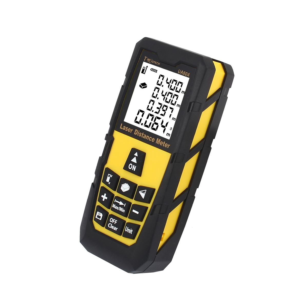 80M/262ft Digital Laser Distance Meter Rangefinder Measure Diastimeter Yellow