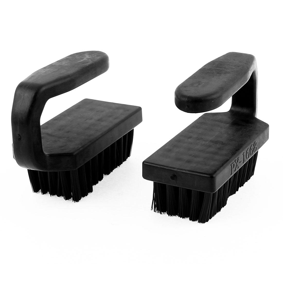 2 Pcs 95 x 70 x 40mm Black U Shape Plastic Handle PCB Circuit Board Anti Static Brush