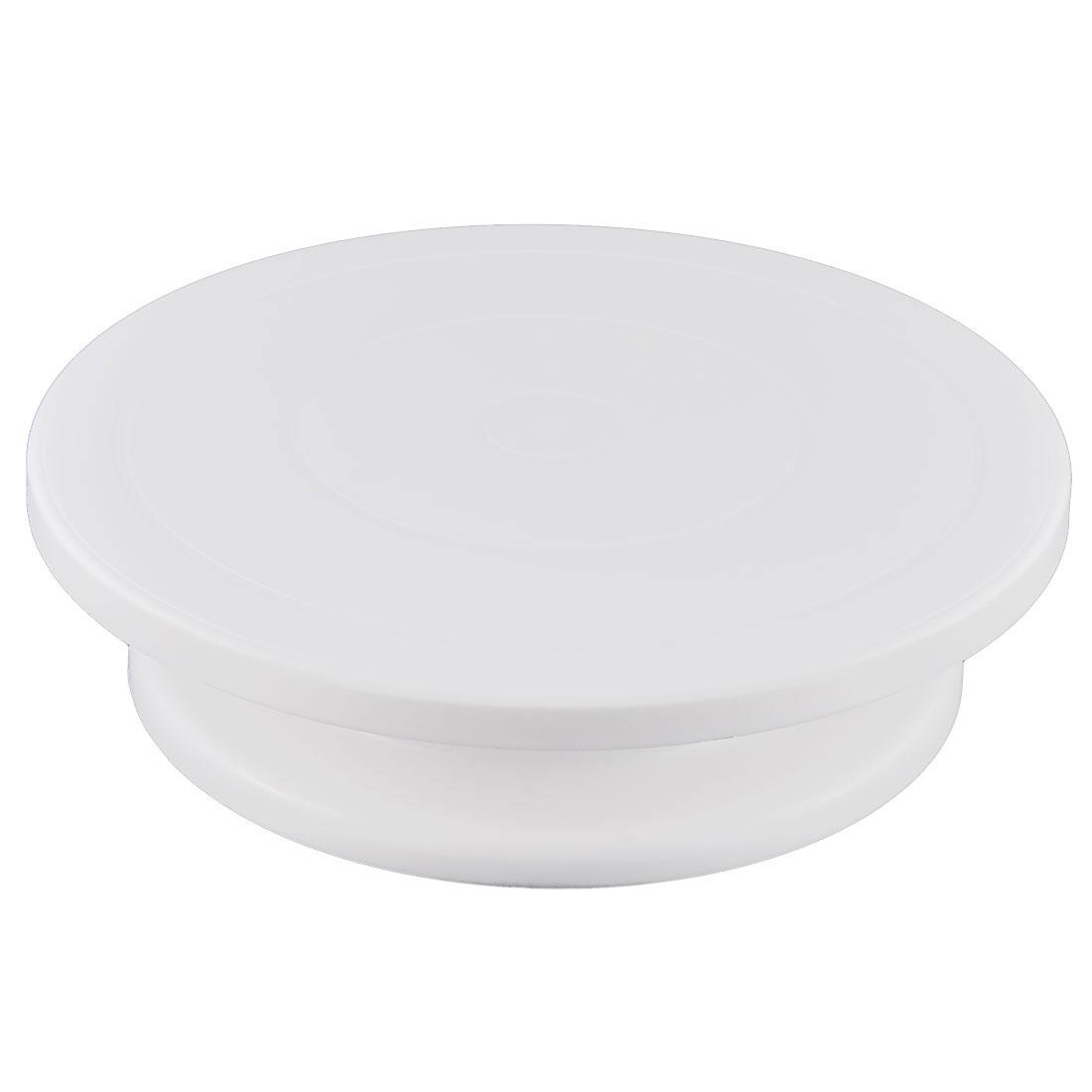 Plastic Revolving Rotating Dessert Stand Cake Decorating Making Tool Turntable White