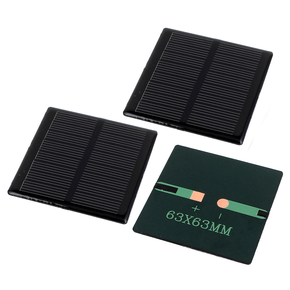 3 Pcs 4V 0.36W DIY Polycrystallinesilicon Solar Panel Power Cell Battery Charger 63mm x 63mm