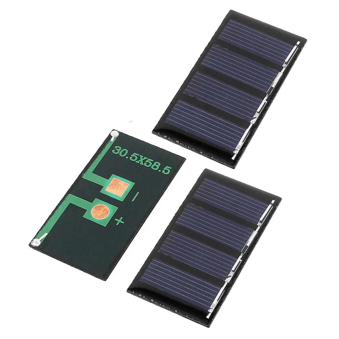 3 Pcs 2V 0.18W DIY Polycrystallinesilicon Solar Panel Power Cell Battery Charger 58.5mm x 30.5mm