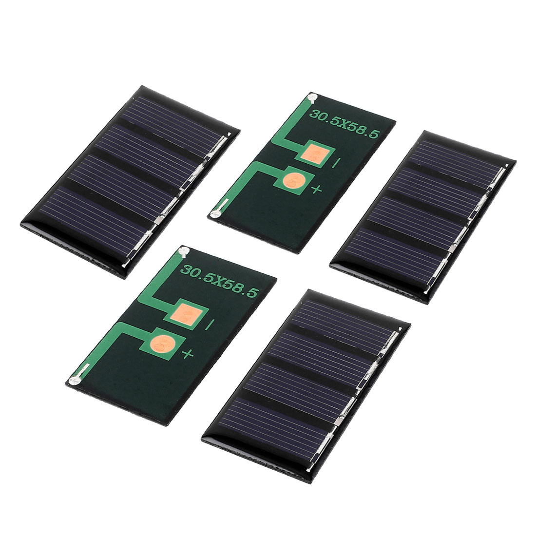 5 Pcs 2V 0.18W DIY Polycrystallinesilicon Solar Panel Power Cell Battery Charger 58.5mm x 30.5mm