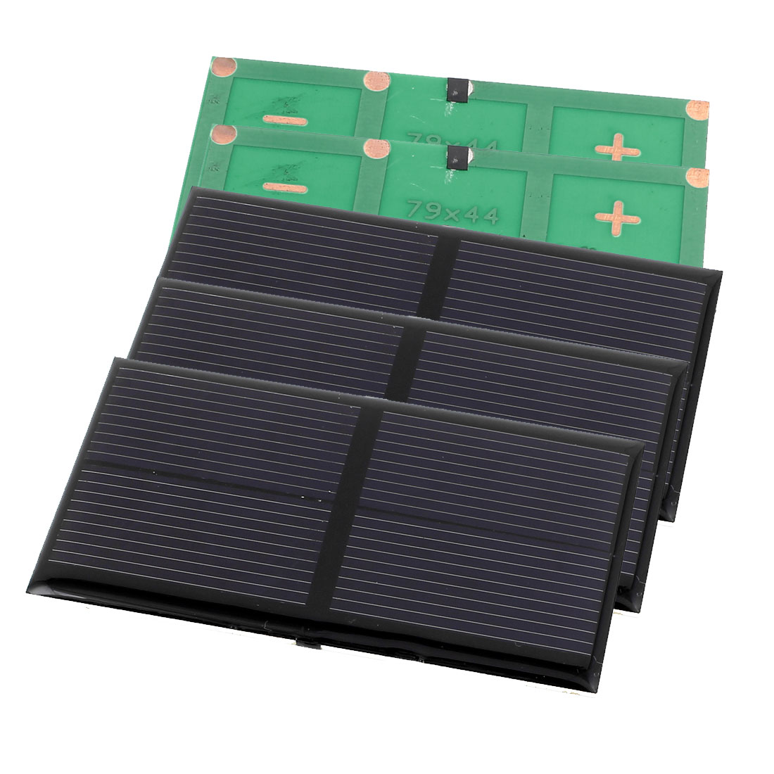 3 Pcs 2V 0.8W DIY Polycrystallinesilicon Solar Panel Power Cell Battery Charger 79mm x 44mm