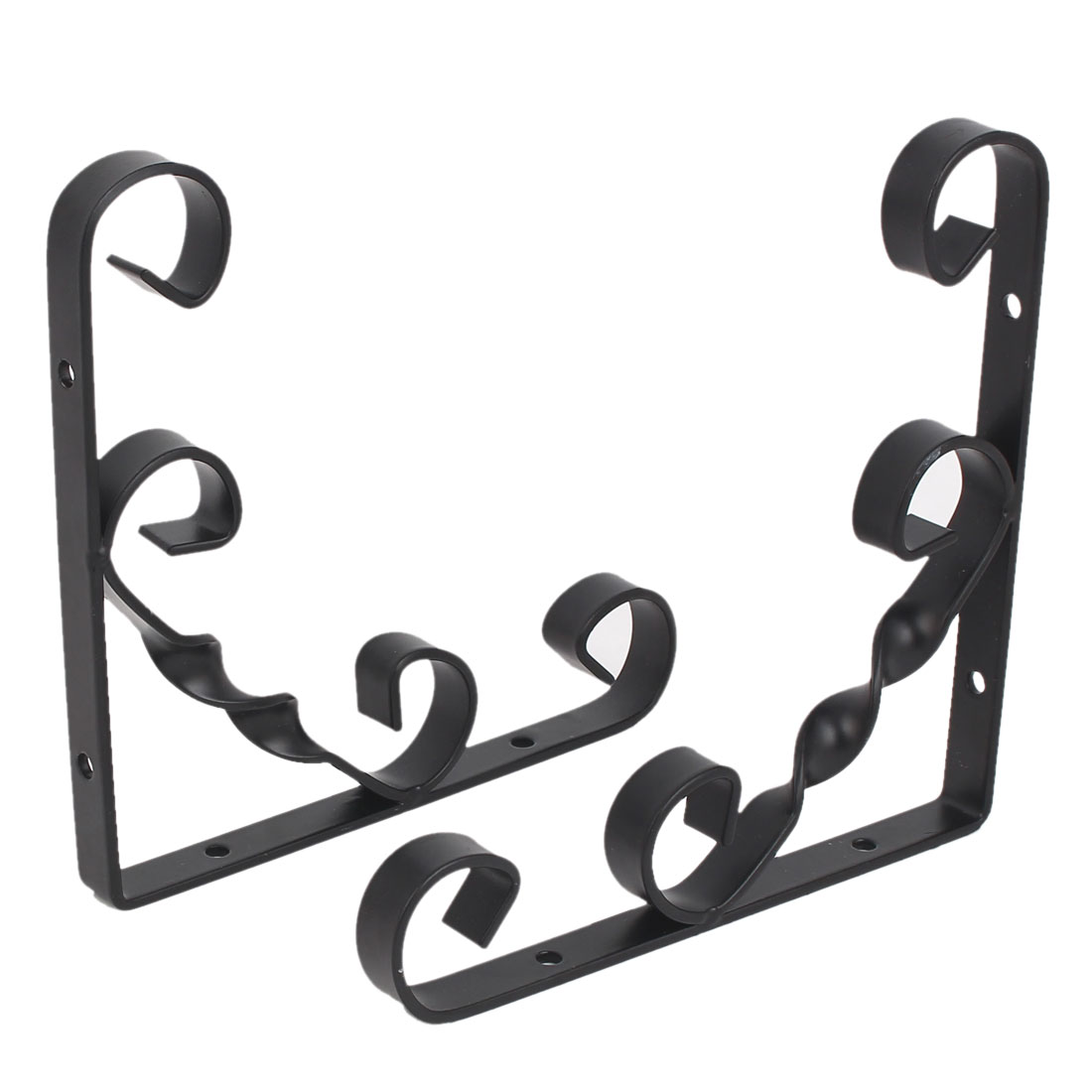 150mm x 150mm 90 degree Wall Mounted Shelf Bracket Brace Support Black 2pcs