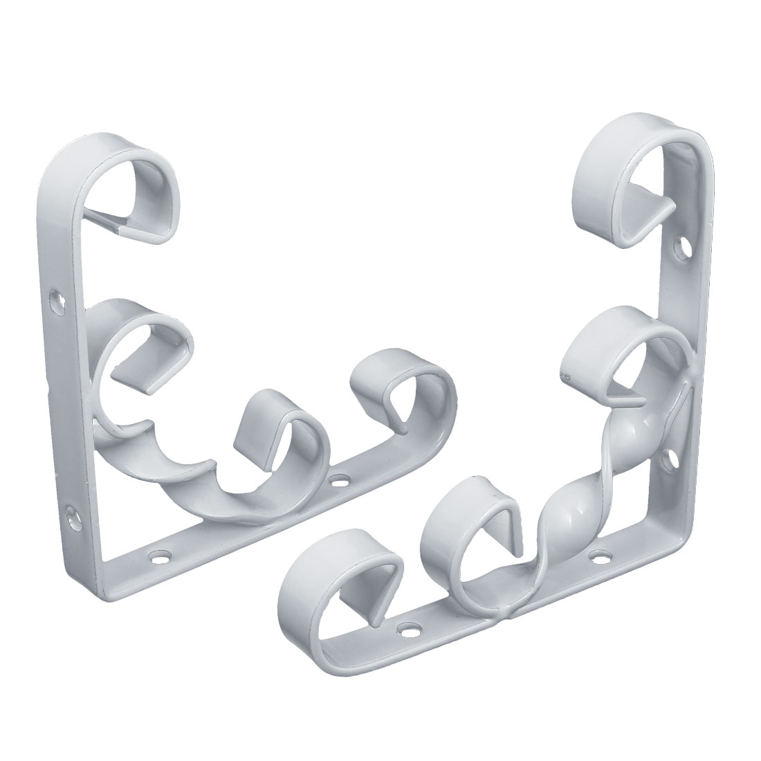 100mm x 100mm 90 degree Wall Mounted Shelf Bracket Brace Support White 2pcs