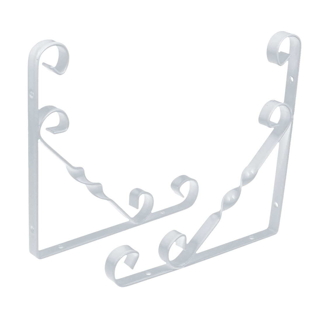 Home Shop Wall Mounted Metal L Shaped Shelf Bracket Support Holder White 200x200mm 2pcs