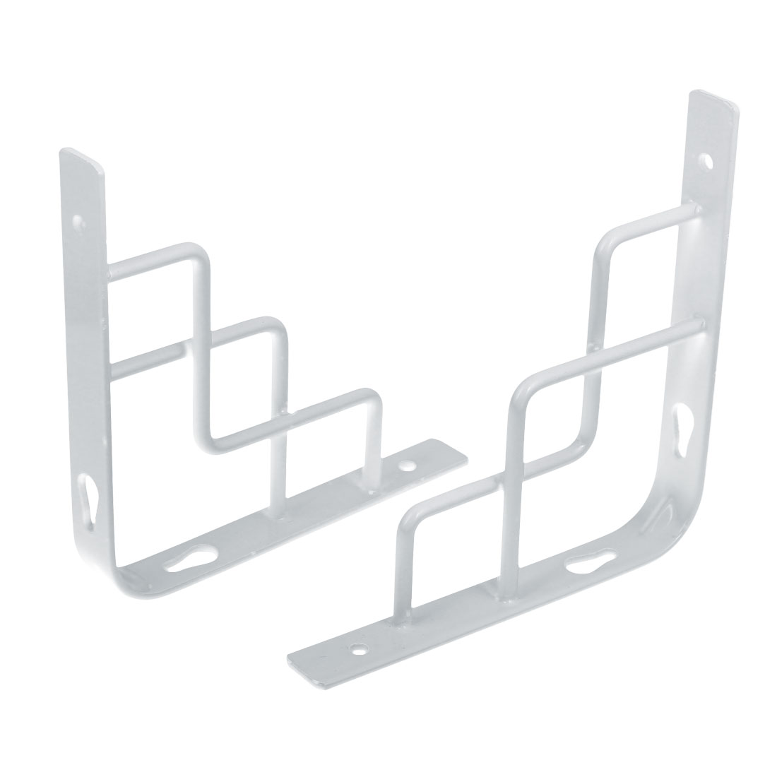 Home Store Wall Mounted Metal L Shaped Shelf Bracket White 150x150mm 2pcs