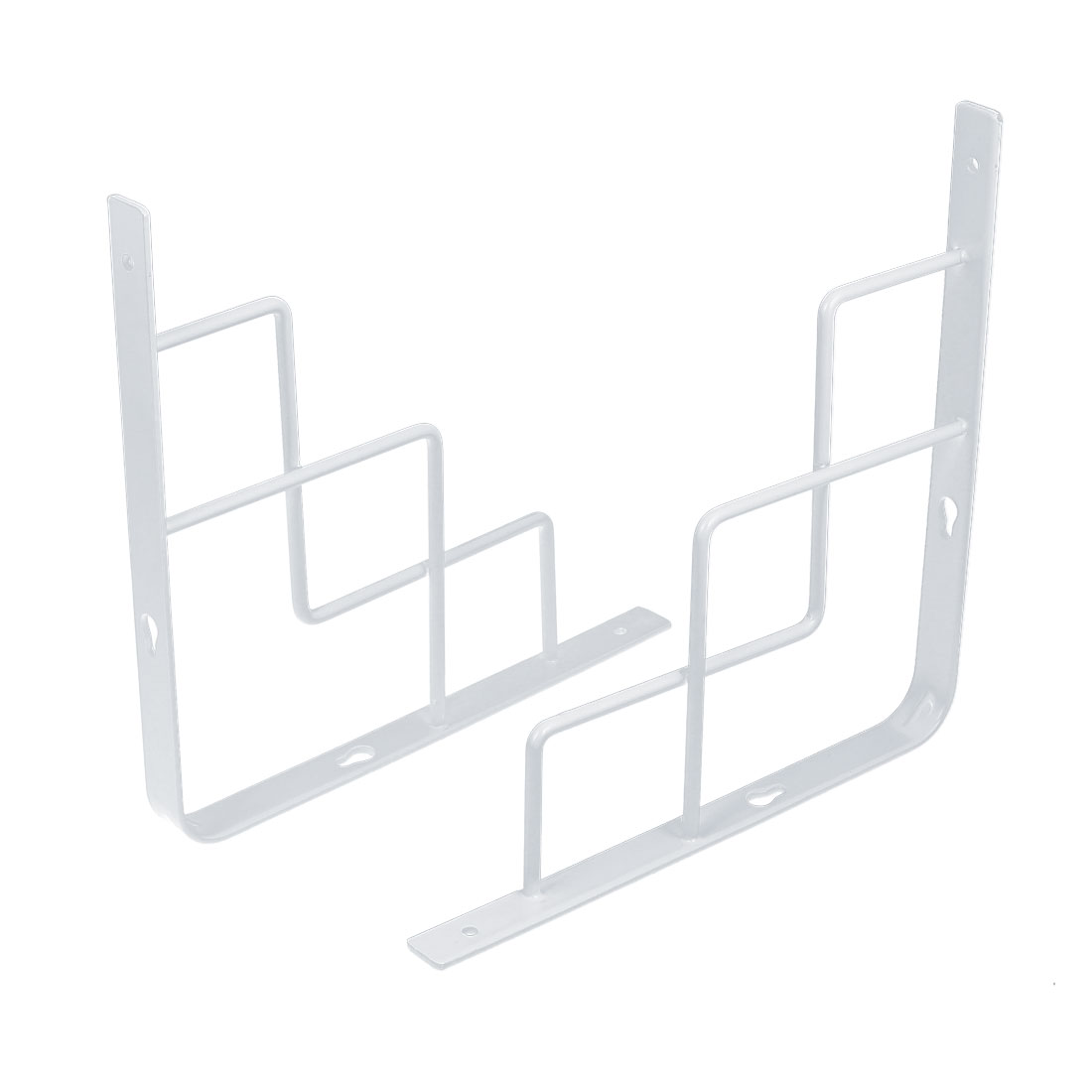 250mm x 250mm Stainless Steel 90 degree Wall Mounted Holder Shelf Bracket 2pcs